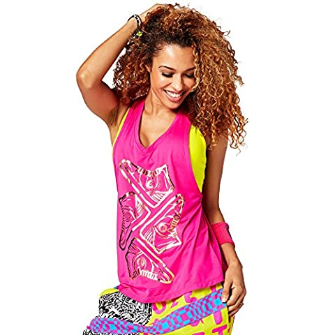 Zumba Fitness Kickin' It Loose Débardeur Femme, Shocking Pink, FR : L (Taille Fabricant : L)