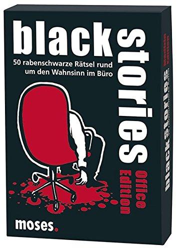 Preisvergleich Produktbild moses. black stories Office Edition | 50 rabenschwarze Rätsel | Das Krimi Kartenspiel