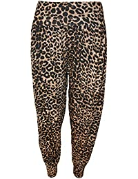 Neue Frauen Plus Size Leopard Print Maxi Swing-Kleid Leggings Palazzos 36-58