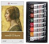 ZenART PORTRAIT Palette, Set di Colori ad Olio Professionali – Colori di Terra della Infinity Series per artisti, atossici, resistenti alla luce, elevato carico di pigmento, 8 tubetti da 45 ml