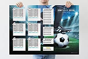 Fußball Euro EM 2016 Europameisterschaft Frankreich Planer, XXL