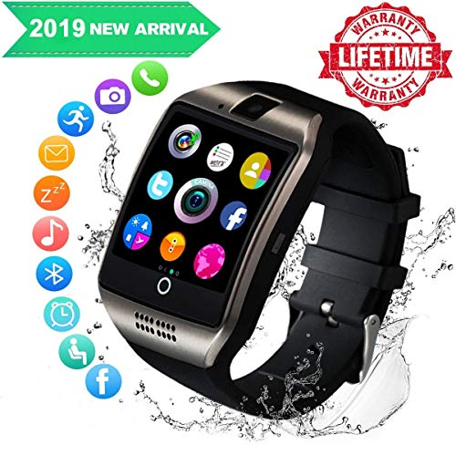 Smartwatch,Bluetooth Smart Watch con Camera Orologio Intelligente Orologio Cellulare Impermeabile con SIM Card Slot Per Android IOS Huawei Samsung Phone X XS XR 8 7 6 5s Plus S9 S8 S7 Uomo Donna