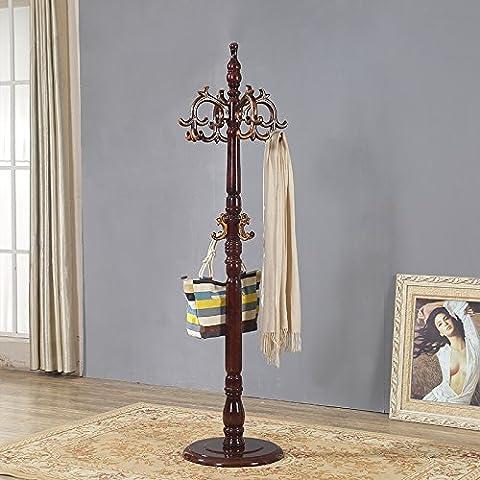 Portemanteau étagère pour sols en bois Chambre à coucher Salon