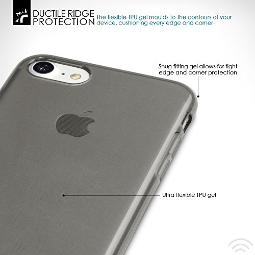 iPhone 8 / iPhone 7 Case, Terrapin TPU Schutzhülle Tasche Case Cover für iPhone 8 Hülle Matt Rot Transparent Schwarz