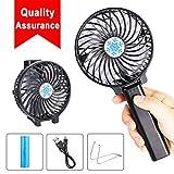 Rarazu Ventilateur à Main Portable Mini Ventilateur de Table USB Ventilateur de...