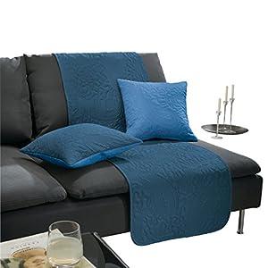 Erwin Müller Sofaläufer blau Größe 50×200 cm