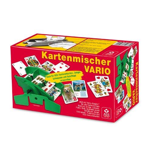 ASS Altenburger 22574033 - Kartenmischer Vario mit Handkurbel, für unterschiedliche Kartenformate geeignet, im Faltkarton
