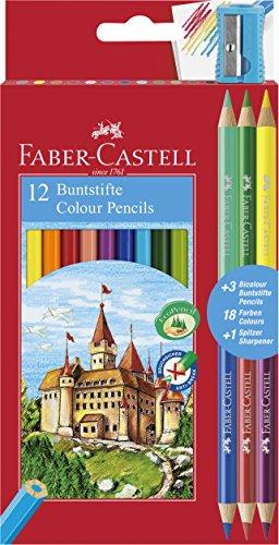 Faber-Castell 110312Bleistift Bunt, 15Stück