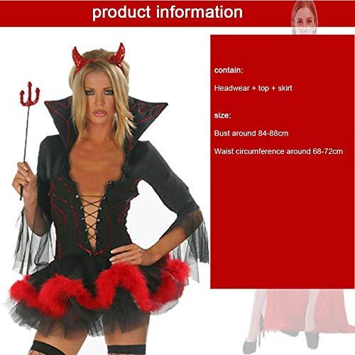 SPFAZJ Halloween Kostüme Cosplay einheitliche Verführung setzen Vampir Königin Dämon blutigen Hexe mumifizierten Braut - Dämon Braut Kostüm
