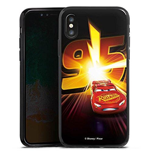 Apple iPhone 5c Silikon Hülle Case Schutzhülle Lightning Mcqueen 95 Disney Cars Disney Pixar Silikon Case schwarz