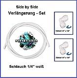 Side by Side Verbinder Verlängerung Fitting Set 1/4 Zoll - 10m Wasseranschluss Schlauch 1/4