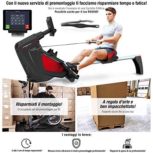 Sportstech Vogatore RSX500 Pieghevole. Controllo Smartphone Via App, 12 programmi di Allenamento Cintura cardiofrequenzimetro da 39,90€ Inclusa 16 Livelli di Resistenza