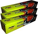 3x Aluminium-Folie 45,7cm Rolle Küche Gastronomie (450mm x 75m) Cutter Box Starke Verpackung