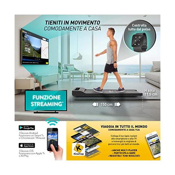 YM Tapis Roulant Elettrico Walking Pad Scrivania App KINOMAP e FITSHOW, Orologio Telecomando Watch Controller… 2 spesavip