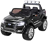 Kinder Elektroauto Ford Ranger Modell 2018 Allrad Lizenziert für 2 Personen Schwarz Elektro Auto Elektroauto Kinderauto
