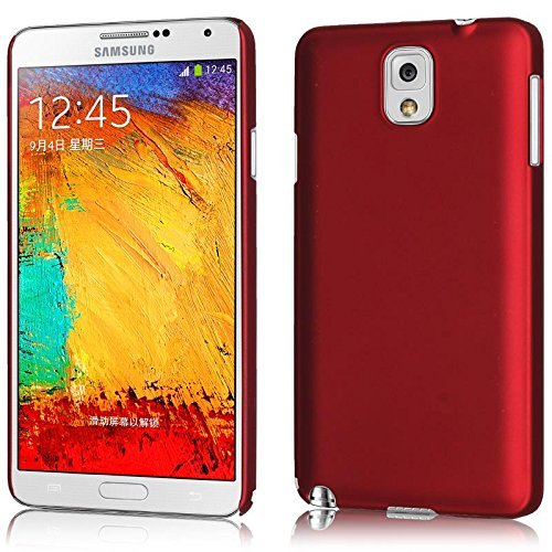 WOW Imagine Rubberised Matte Hard Case Back Cover For Samsung Galaxy Note 3 N9000 (Maroon Wine Red)