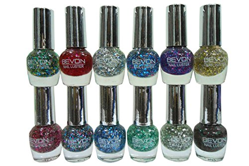 Seema Beevon Glitter Nail Polish (Set of 12), 5 ml each (R)