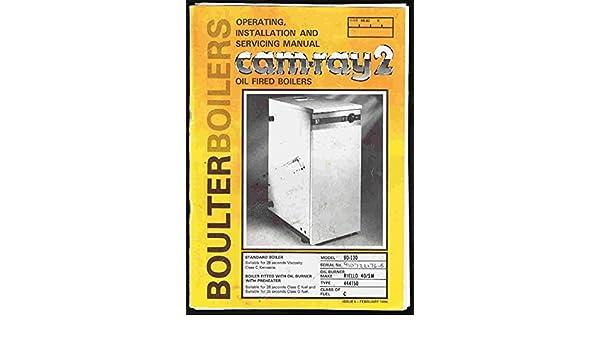 Boulter Camry 3 Oil Boiler Manuals - vegaloatwork