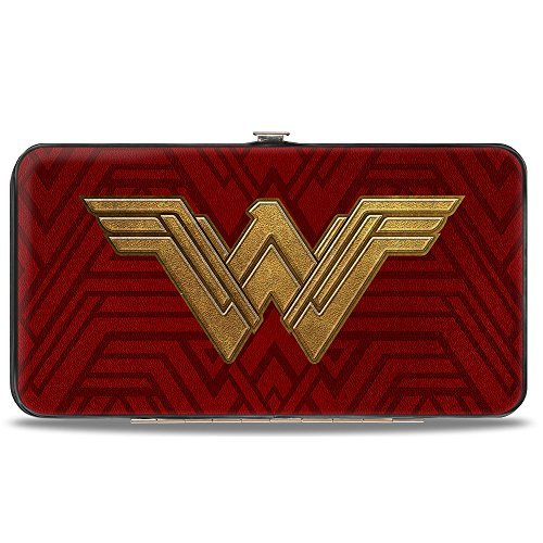 Buckle Down Red And Golden Women's Wallet