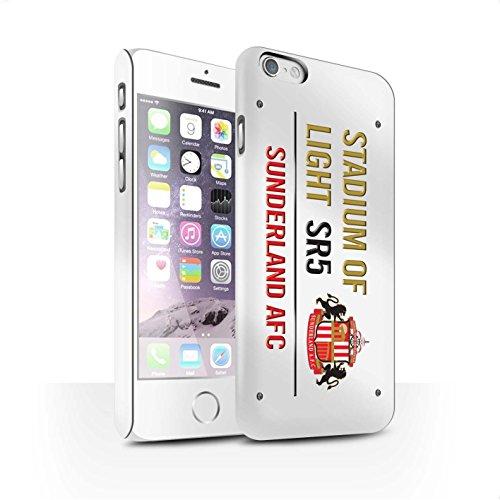 Offiziell Sunderland AFC Hülle / Matte Snap-On Case für Apple iPhone 6S / Pack 6pcs Muster / SAFC Stadium of Light Zeichen Kollektion Weiß/Gold