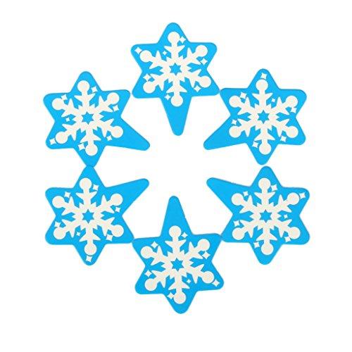 95-100 x Cupcake Decorazione Torta di Carta Inserire Natale Fiocco di Neve Blu