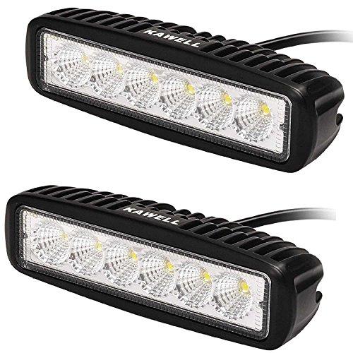 KAWELL 2x18W Barra Fuoristrada Fari Luce Fendinebbia Faro LED da Lavoro Impermiable Luci diurne per SUV 4x4s Veicolo Trattore