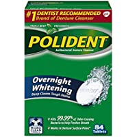 Polident - Antibactérien - Tablettes Nettoyantes Prothèse Dentaire - 84 Unités