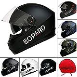 Best NEW Casques de moto - Leopard NEW STYLE Sabre Leo-808double Racing Pare-soleil Full Review