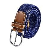 Mr.Van Komfortabel Elastische Geflochtener Stretch Gürtel Klassische Mode Herren Belt Länge 105 cm, Breite ca. 3,4 cm, mit Eisenschnalle