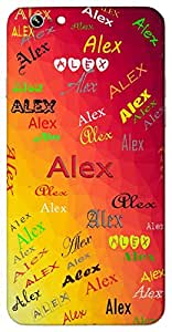 Alex (Defender of Mankind Noble Female Version of Alexander) Name & Sign Printed All over customize & Personalized!! Protective back cover for your Smart Phone : Oppo R7s PLUS