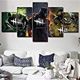 baokuan86 HD Impreso Juegos Cartel Fotos Dead by Daylight Wall Art para la Sala de Estar Moderno 5 Panel Home Decor s Canvas Painting