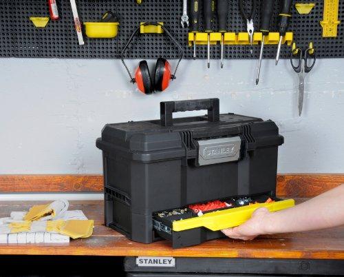 Stanley Werkzeugkiste leer aus Kunststoff 1-70-316 / Werkzeugkoffer mit integrierter Schublade für Kleinteile / Maße: 48.1 x 27.9 x 28.7 cm - 4