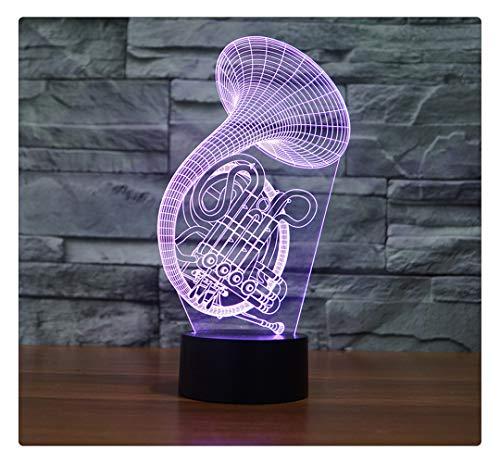 Französisches Horn-Musikinstrument-Kreatives Geschenk-Bunte Note Führte Sichtlicht-Usb-Licht, Fernbedienung - Französisch Ein Licht