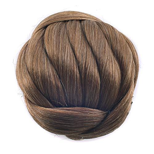 Kunsthaar Nadel Dutt Donut gerade Hochsteckfrisur geflochten Haarteil Haargummi Clip in Hair Bun Hochzeit Extensions