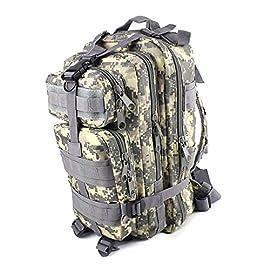 82629d1a37 KRY-Torcia tattica per elmetto militare, struttura interna Zaino Daypack,  Zaino da viaggio leggero e impermeabile, per arrampicata, campeggio o ...