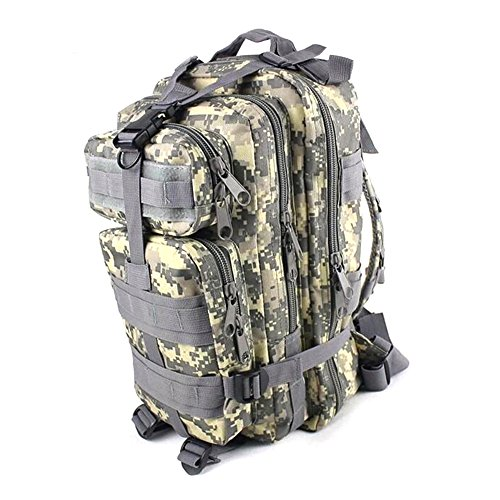 Kry Military Tactical interne Rahmen Rucksäcke leichter Tagesrucksack Wasserdicht Reisen Rucksack für Camping Wandern Klettern Radfahren 30L - ACU