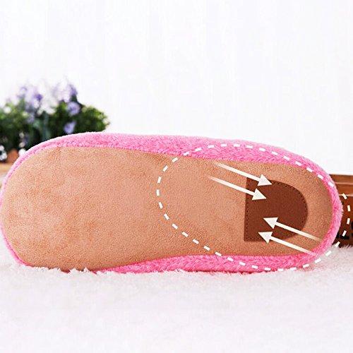 MStar Damen Weicher Hausschuh Hübsche Flache Flauschige Rutschfeste Warm Pantoffel Outdoor/Indoor in 5 Farben Braun