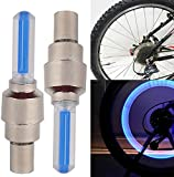 IDH 2PC Bike Bicycle BMX Wheel Tyre Valve Cap Spoke Neon LED Light Lamp, 4 color to choose