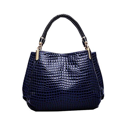 Vbiger Borsetta in pelle casual Borsa a tracolla classica Borsa tote grande capacit¨¤ per donne(Blu) Blu