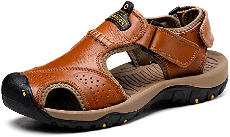 Zapatos para hombre, Zapatillas de playa de cuero genuino ocasionales de los hombres Zapatillas de deporte transpirables...