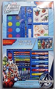 Boîte de coloriage marvels avengers, crayons de couleurs, feutres, peinture à l'eau et stickers