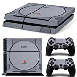 Ps4 Playstation 4 Console Skin Decal Sticker Retro Vintage + 2 Controller Skins Set by ZoomHit