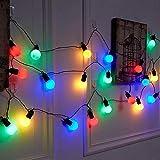 Girlande Birnen Lichter,KINGCOO 15M 50LEDs Frosted Ball Globe Glühbirnen Lichterkette Batteriebetrieben Für Weihnachten Party Dekorationen