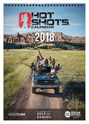 Hot Shots Kalender 2018Pack (A4Kalender, Spielkarten und 4Poster), schwarz, 30x 30x 2,5cm (Spielkarten Waffen)