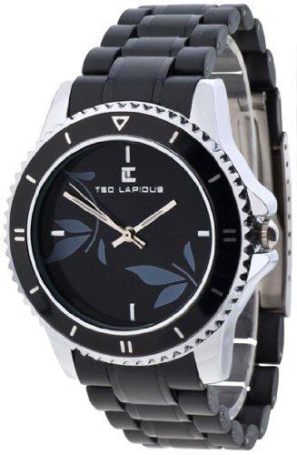Ted Lapidus - A0510RNPN - Montre Femme - Quartz Analogique - Cadran - Bracelet Plastique Noir
