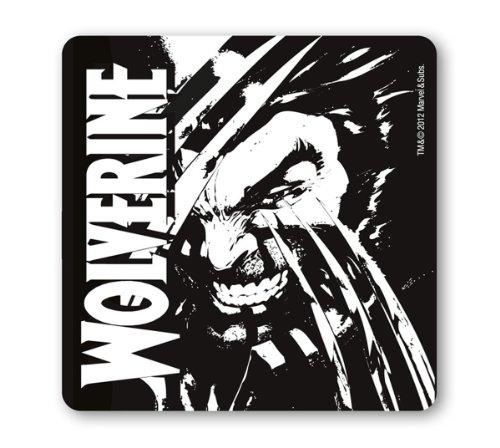 Untersetzer Wolverine - Marvel Comics - schwarz - Bierdeckel - Lizenziertes Originaldesign - LOGOSHIRT (Kann Ein Agent Kostüm)
