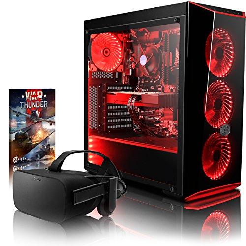 VIBOX Trident VGS570T-4 VR Gaming PC mit Oculus Rift, War Thunder Spiel Bundle (4,0GHz Intel i5 6-Core Prozessor, Nvidia GeForce GTX 1070 Ti Grafikkarte, 8Go DDR4 RAM, 2TB HDD, Ohne Betriebssystem)