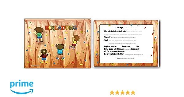 Einladungskarten Kindergeburtstag Klettern Einladung   10 Stück: Amazon.de:  Bürobedarf U0026 Schreibwaren