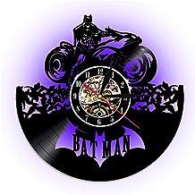 9bf0112dc738 WJCY Reloj de Pared del Vinilo de Batman