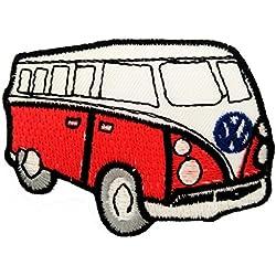 Vw Escarabajo Bus Red Retro Hippie Patch '7,5 x 5 cm' - Parche Parches Termoadhesivos Parche Bordado Parches Bordados Parches Para La Ropa Parches La Ropa Termoadhesivo Apliques Iron on Patch Iron-On Apliques